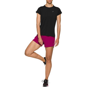 asics Night Track Shorts 3,5'' Femme, dried berry
